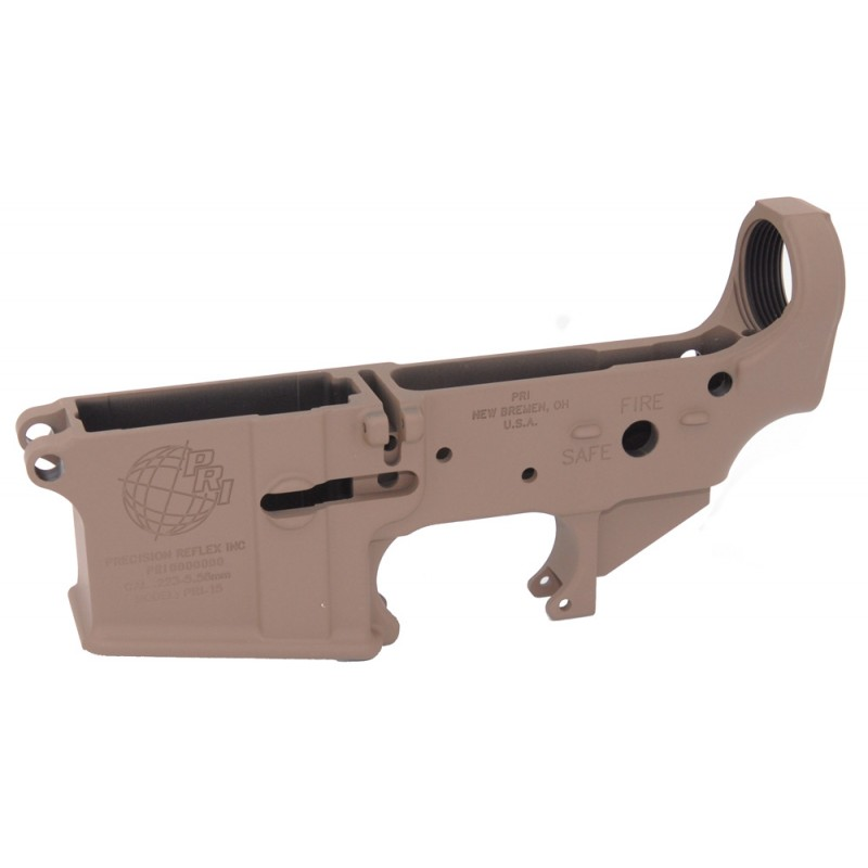 AR15 PRI Stripped lower receiver with FDE finish