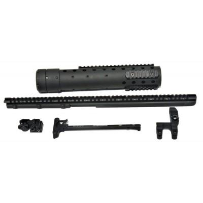 DPMS MK 12 Mod 0 GenIII DIY Kit w/PRI Rear sight & Straight rail, Black Finish
