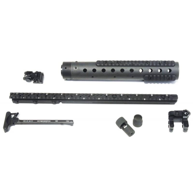 MK 12 Mod 0 GenII DIY Kit w/ PRI Rear sight & Straight rail, Black Finish