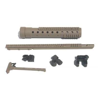MK 12 Mod 0 Gen III DIY Kit w/PRI Rear sight & PEQ II rail, FDE Finish