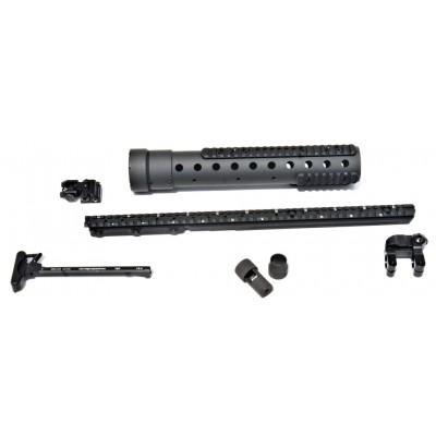MK 12 Mod 0 GenIII DIY Kit w/PRI Rear sight & Straight rail, Black Finish