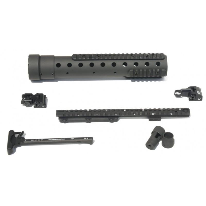 MK 12 Mod H Gen III DIY Kit w/PRI Rear sight & Recce rail, Black Finish