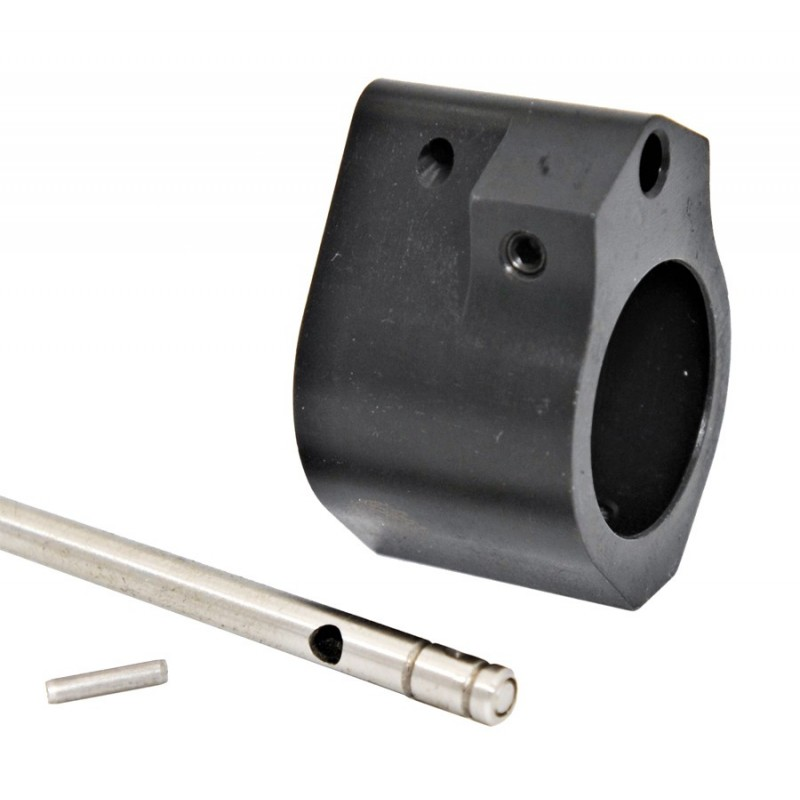 .875 Profile Adj Gas Block W/ Straight Gas Tube