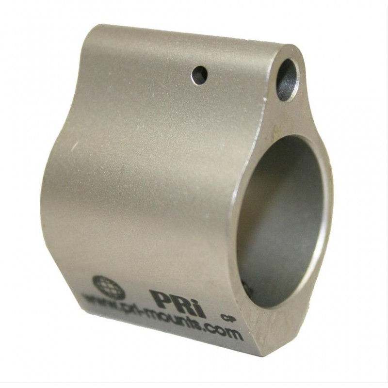 Pri Low Profile Stainless Steel Gas Block .750 Dia.